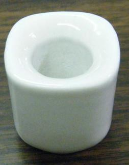 "1, 2, 4, 6, or 10 White Ceramic Candle Holders for 4"" Mini T"