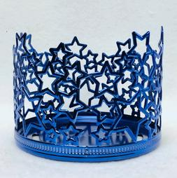 1 Bath & Body Works BLUE STARS Large Candle Holder 3-Wick 14