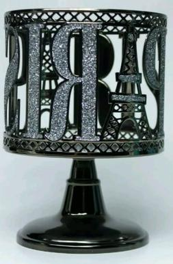 1 Bath & Body Works Glitter PARIS Pedestal Large 3-Wick Cand
