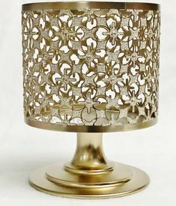 1 Bath Body Works GLITTERY GOLD PEDESTAL Large Candle Holder