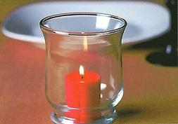"1-Hurricane Candle Holder-Clear Glass For 2"" x 3"" Pillar Can"