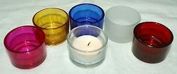 1-Tealight or Votive 6-Unique Different Colors-Candle Holder