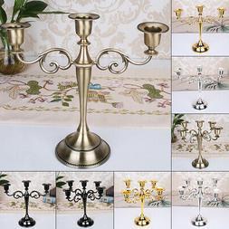 1* Wedding Home Decor 3/5 Arms Metal Crafts Candelabra Alloy