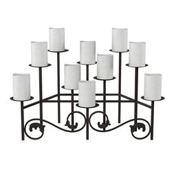 10 Candle Candelabra Iron Metal Scroll Candle Holder Centerp