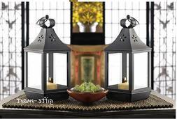 "10 black 12"" tall malta Candle holder Lantern light wedding"