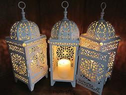 10 lot white Moroccan scrollwork Lantern Candle holder weddi