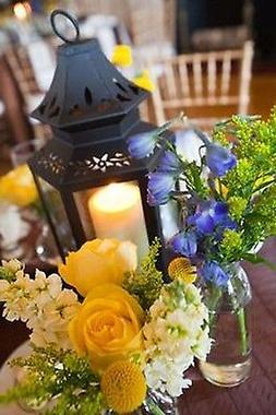 "10 small 8"" black stagecoach Lantern Candle holder wedding f"