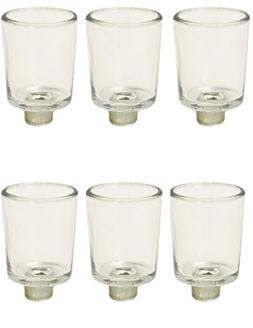 IMA BRASS 12 Clear Glass Votive Tea Light Holder With peg Bo