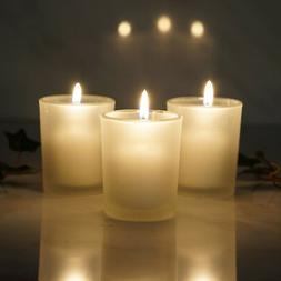12 pcs Frosted GLASS Candle VOTIVE HOLDERS for Wedding Party