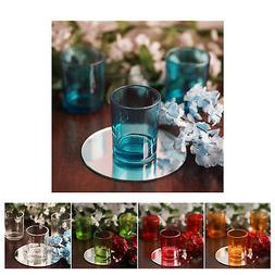 12 x 2.5 Clear Glass Votive Candle Holders for Candle Making