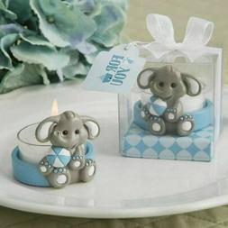 15-70 Baby Elephant Blue Tea Light Candle Holder Baby Boy Sh