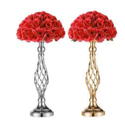 1pcs 2pcs Vase Centerpiece Stands Metal Wedding Flower Table