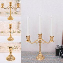 1Pcs Metal 3 Arms Wedding Table Candlesticks Candelabra Home