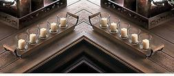 primitive wood country long tray centerpiece fireplace CANDE