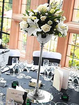 "Efavormart 2 Sets 30"" Tall Silver Metallic Floral Vase W/ Ca"
