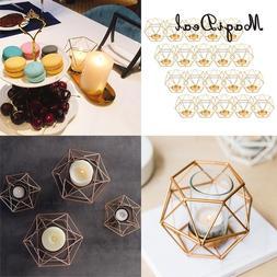 20pcs Iron Wire 3D Geometric Tea Light <font><b>Holder</b></