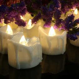 12 Flameless Votive Decor Candles LED Tea Light Battery Oper