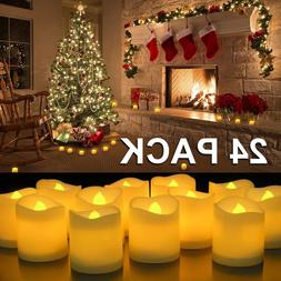 24 PCS Flameless Votive Tealight Candles Battery Operated LE