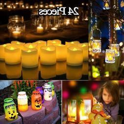 24pcs Flameless LED Tealight Candles Tea Light Candle Batter