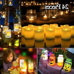 24pcs Flameless LED Tealight Candles Tea Light Battery Decor