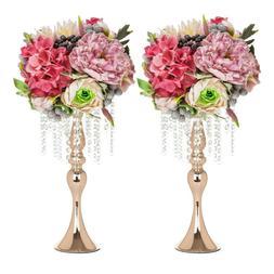 "2pcs 18"" Metal Vase Centerpiece Stand Candle Holder Wedding"