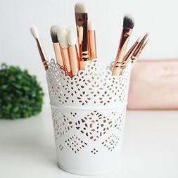 2pcs Lace Hollow Barrel Flower Pots Desktop Decoration Stora