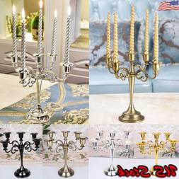 3/5 Arms Alloy Candle Metal Crafts Candelabra Holder Stand W