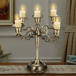 3/5 Arms Metal Crafts Candelabra Alloy Candle Holder Stand W