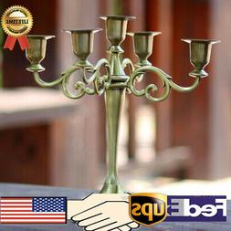3/5 Arms Metal Crafts Candelabra Candle Holder Stand Candles