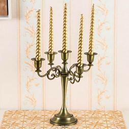 3/5 Arms Metal Crafts Candelabra Candle Holder Stand Home De