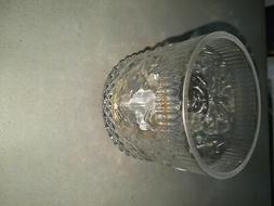 3.5 x 3.5 Fair Isle Glass Hurricane Candle Holder Clear/Gold