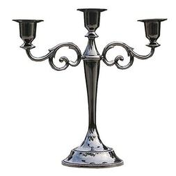 Sziqiqi 3-Arms Metal Candle Holder 27cm Height Candle Stick