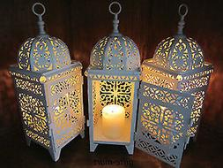 6 lot white Moroccan scrollwork Lantern Candle holder weddin