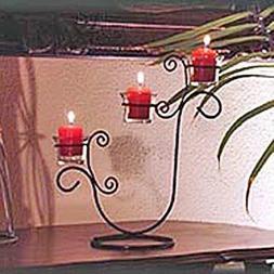 3 Votive Iron Candle Holder