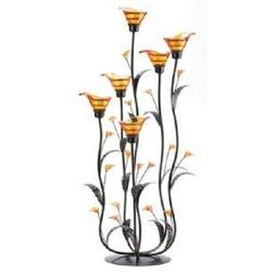 30 AMBER CALLA LILLY CANDLE HOLDER WEDDING DECORATION CENTER