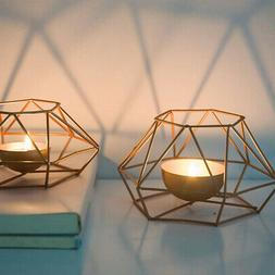 3D Geometric Candle Holder Tea Light Candlestick Wedding Hom