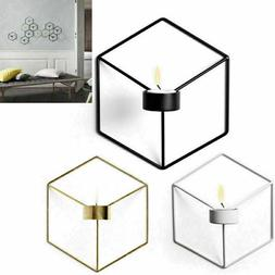3D Geometric Candlestick Nordic Style Metal Wall Candle Hold