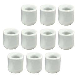 4 6 or 10 white ceramic candle