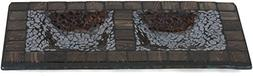 Fragments by Pavilion 9-3/4 by 5-Inch Mosaic Rectangle Candl