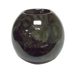 "Sagebrook Home 4"" Orb Candle Holder, Black - AC10021-08"
