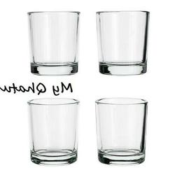 """4 x Ikea UPPEHALL Votive candle holder, clear glass, 2 1/4"""","""