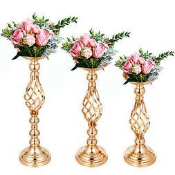 4pcs Candle Holder Vase Set for Wedding Metal Flower Rack Go