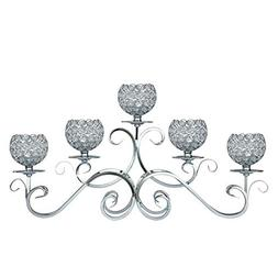 5 Arms Gold/Silver Crystal Candle Holder for Wedding Dining