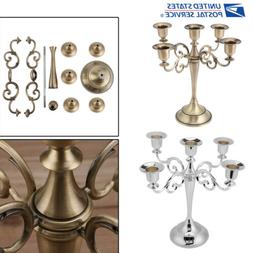 5 Arms Metal Candle Holder Candelabra Alloy Crafts Stand Wed