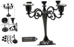 5-Candle Metal Candelabra Candlestick Holders 10.6 inch Tall
