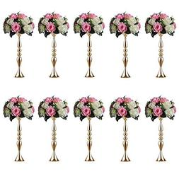 Sziqiqi 10 Pieces 50 Height Metal Candle Holder Candle Stand