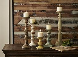 Home Decor Improvements 5544-5 Kanan Wood Candleholders In D