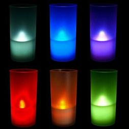 6 PCs Color Changing LED Flameless Tealight Candles with Fro