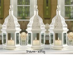 "5 lot White Moroccan 12"" shabby Candle holder lantern weddin"