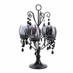 6 Black Candelabra Candle Holder Wedding Centerpieces